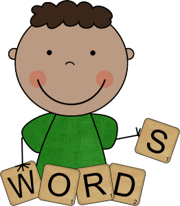 Words clipart cute kid